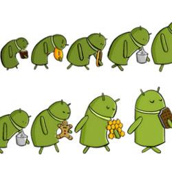 Google员工画超萌系Android进化史