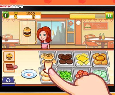 玩家需要协助美女店主来管理好汉堡店