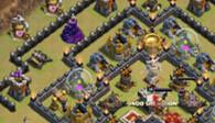 部落冲突玩家分享:九本部落战多款防御阵