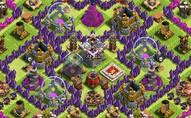 部落冲突八本护资源阵型 城堡居中难引联盟