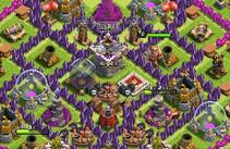 COC玩家分享八本打钱阵型 城堡居中改良版