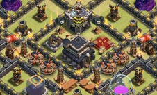 部落冲突玩家分享:COC九本守资源和部落战阵型