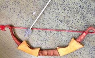 手工帝自制DIY弓箭mm的弓 可射5米