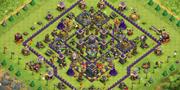 COC阵型分享:9本无连弩 护黑引导阵
